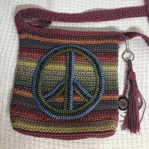 The SAK Multicolor Peace Sign Crossbody Bag  B127